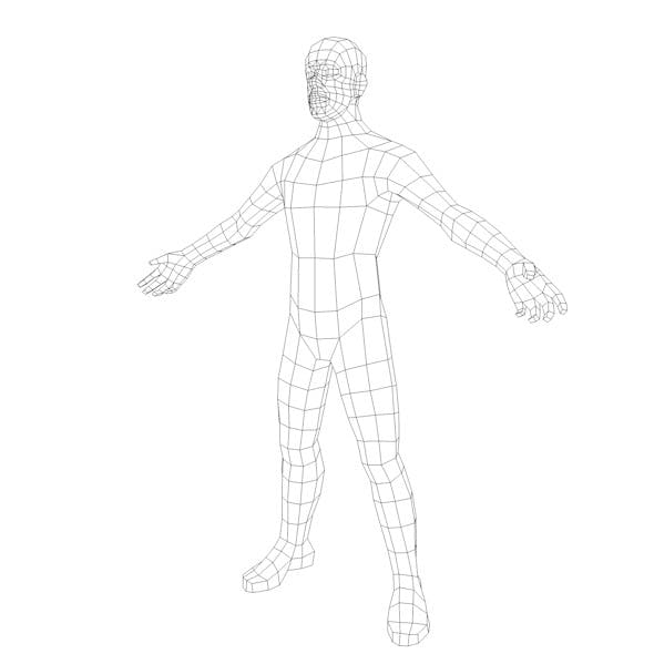 Human Male Base Mesh - 3DOcean Item for Sale