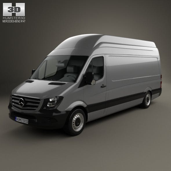 Mercedes-Benz Sprinter Panel Van LWB SHR 2013 - 3DOcean Item for Sale