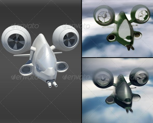 3D Airship - 3DOcean Item for Sale