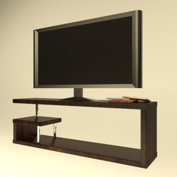 Low Poly TV set - 3DOcean Item for Sale