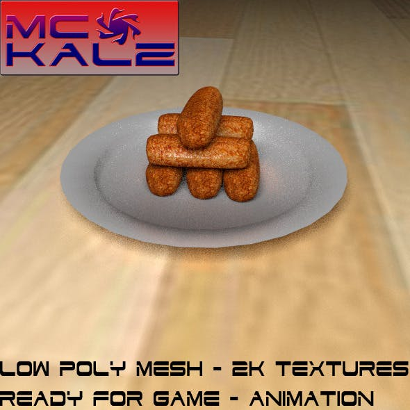 Croquette Crispy - 3DOcean Item for Sale