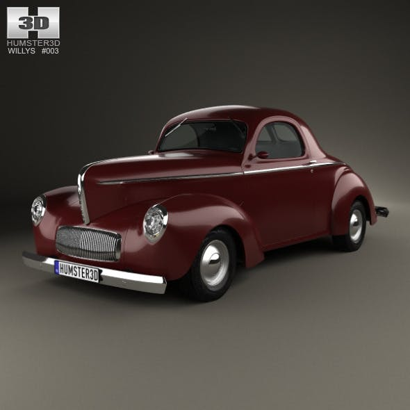 Willys Americar DeLuxe Coupe 1940 - 3DOcean Item for Sale