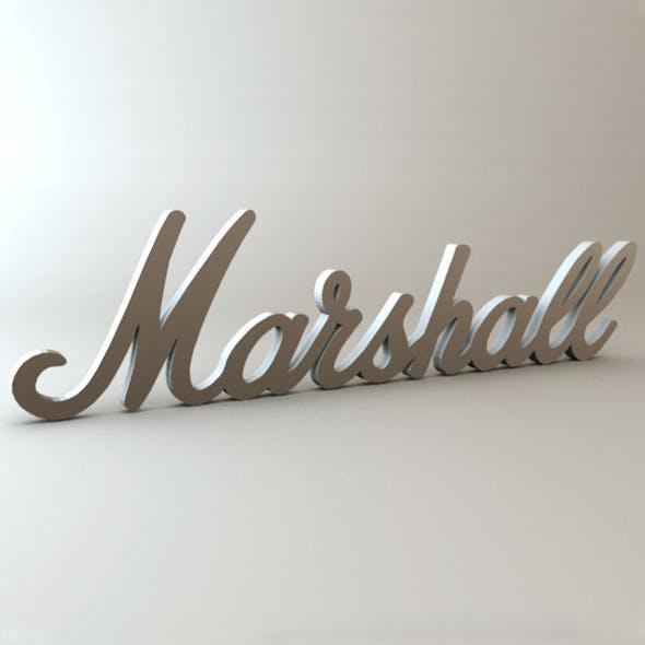 Marshall Logo - 3DOcean Item for Sale