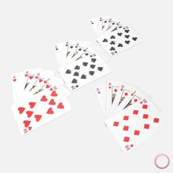 Royal Flush Poker Hand - 3DOcean Item for Sale