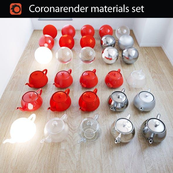 CoronaRender Materials Set