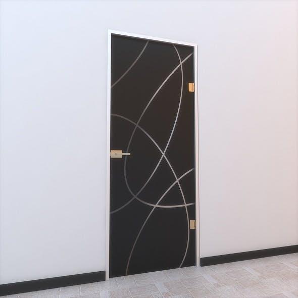 Glass Door Z 002 - 3DOcean Item for Sale