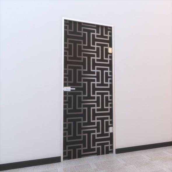 Glass Door Z 004 - 3DOcean Item for Sale