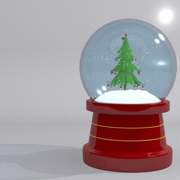 Christmas Snow Globe Tree