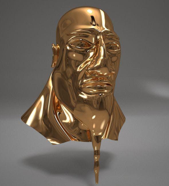 Pharaoh Gold Head - 3DOcean Item for Sale