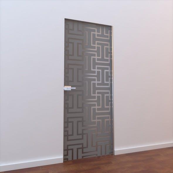 Glass Door L 004 - 3DOcean Item for Sale
