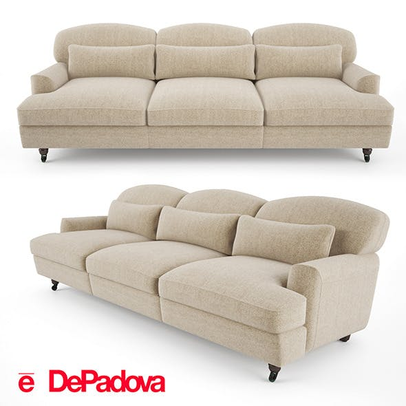 De Padova - Raffles Sofa (three-seater sofa)