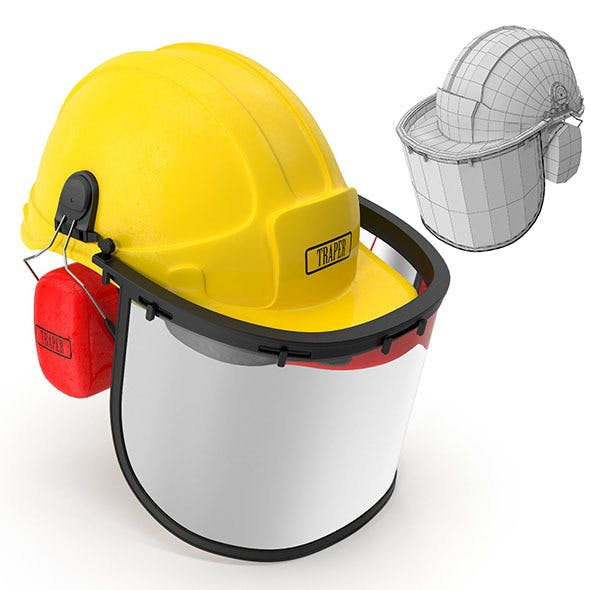Safety Helmet with Face and Ears Cover