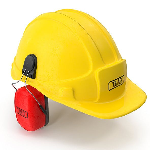 Safety Helmet with Ears Cover - 3DOcean Item for Sale