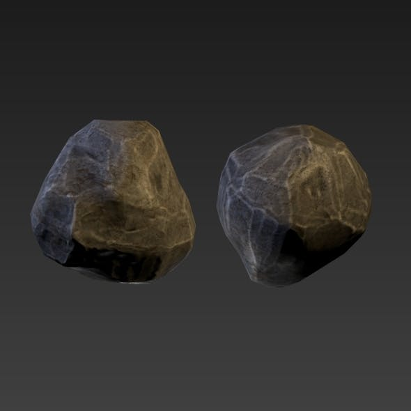 Low-Poly Stones - 3DOcean Item for Sale