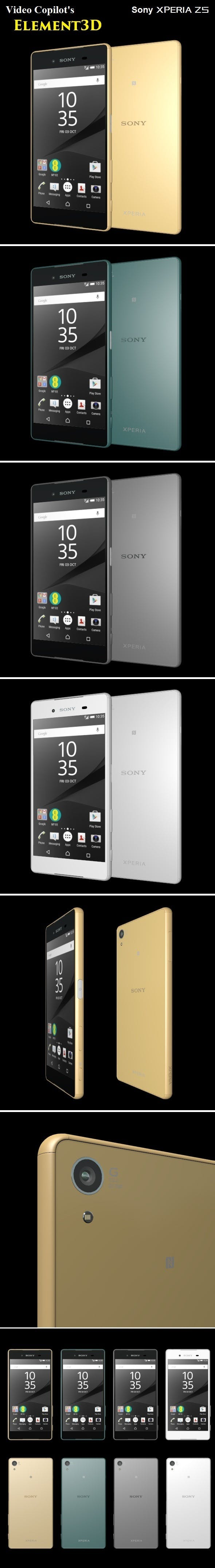 Element3D - Sony Xperia Z5 - 3DOcean Item for Sale