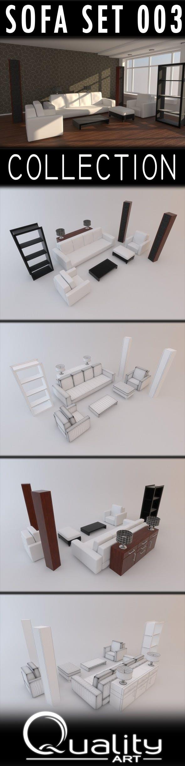 Sofa Set 003 - 3DOcean Item for Sale