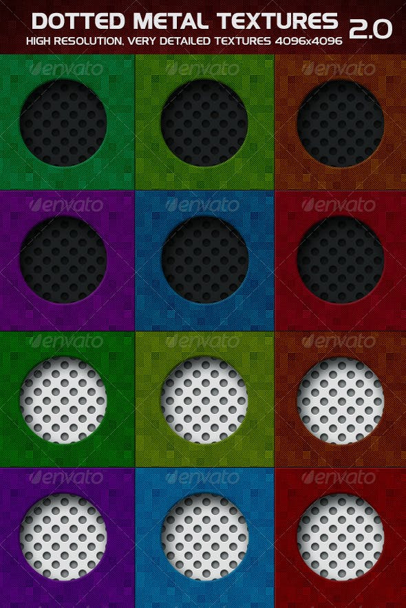 Dotted Metal 2.0 - 3DOcean Item for Sale