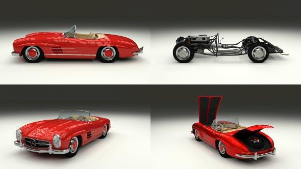 Fully Modelled Mercedes 300SL Roadster Red - 3DOcean Item for Sale