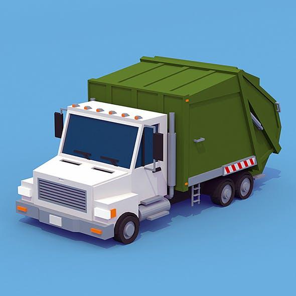 Garbage Truck - 3DOcean Item for Sale