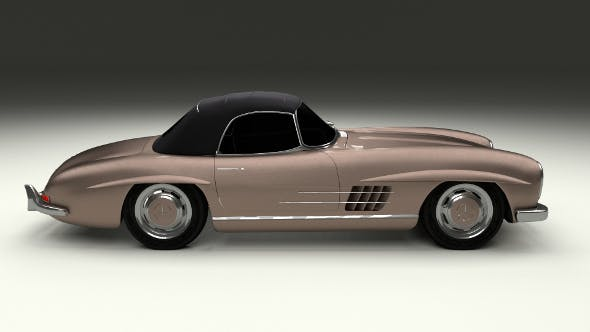 Mercedes 300SL Roadster Top Up - 3DOcean Item for Sale