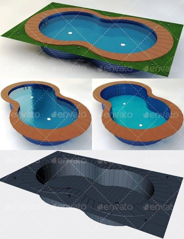 Swimming Pool Low Poly