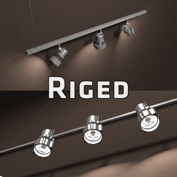 Gallery Light Set Riged - 3DOcean Item for Sale