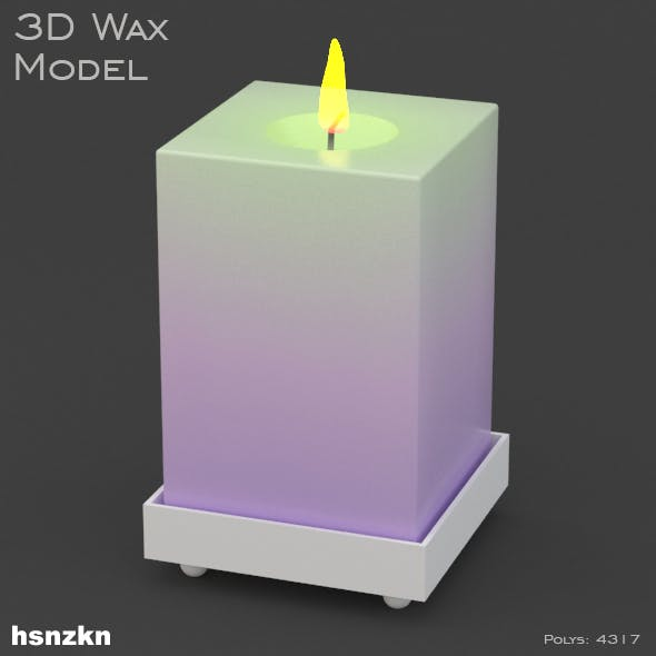 3d Wax Model - Flame Lighting - 3DOcean Item for Sale
