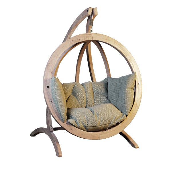 Hanging rocking chair