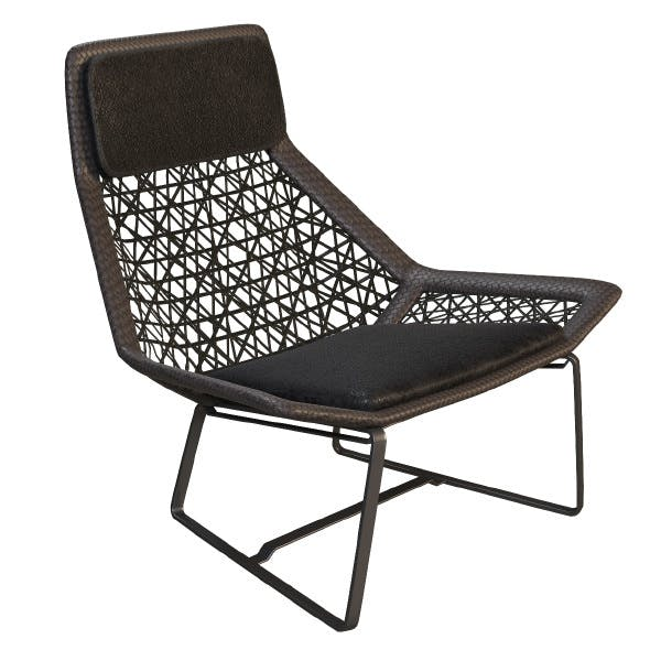 Outdoor wicker chair maia of Kettal - 3DOcean Item for Sale