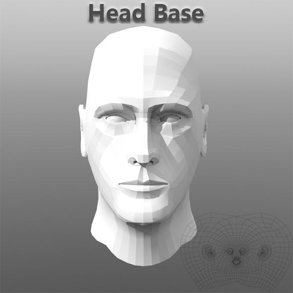 Head Base With Uv - 3DOcean Item for Sale