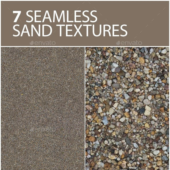 6 seamless textures of sand