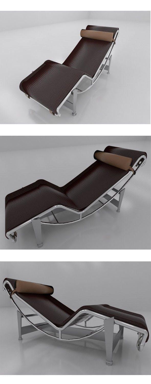 Corbusier recliner chair - 3DOcean Item for Sale