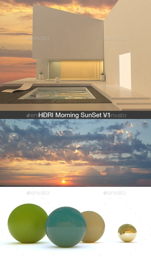 HDRI Morning SunSet V1 - 3DOcean Item for Sale