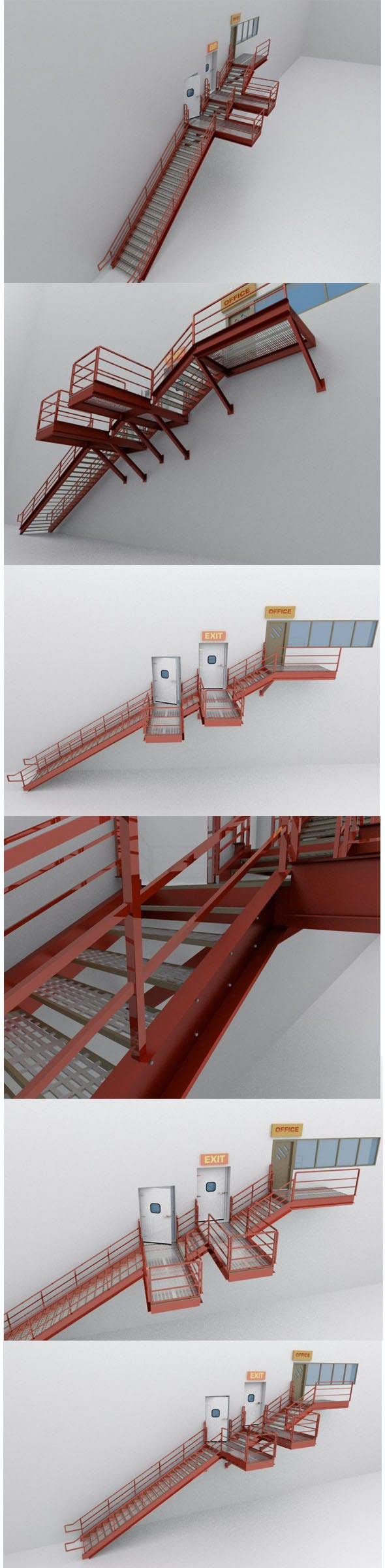 Factory's Metal Stairs - 3DOcean Item for Sale
