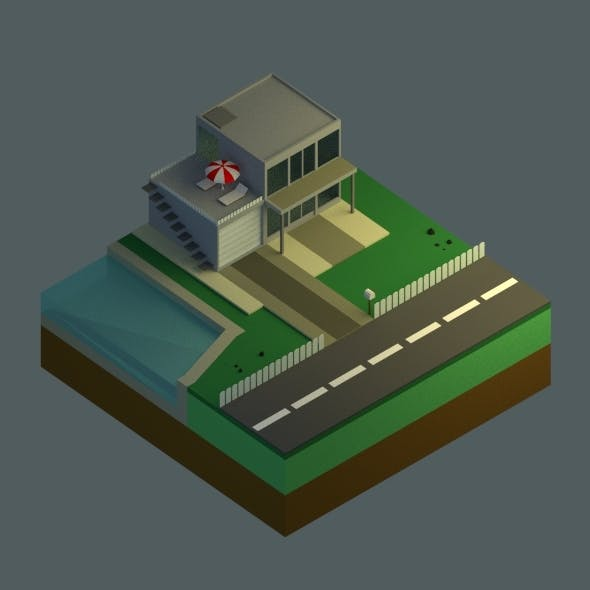 Low Poly House Set
