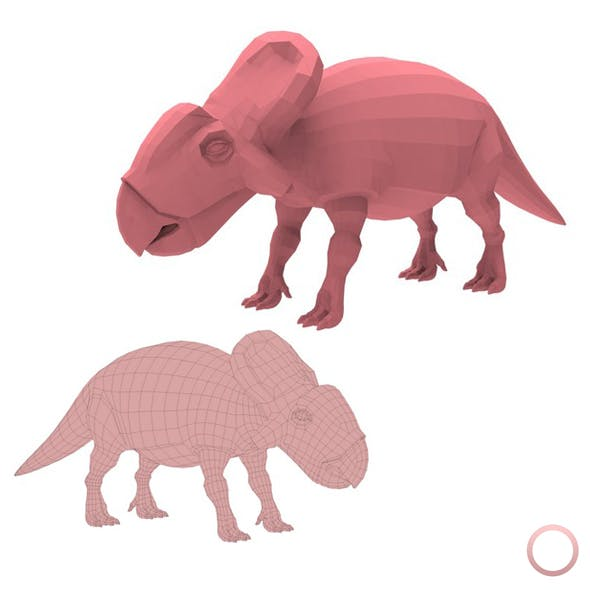 Protoceratops Base Mesh - 3DOcean Item for Sale