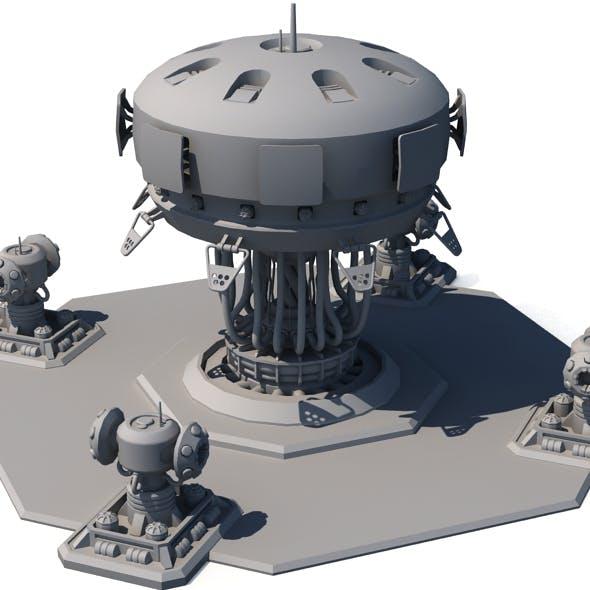 Sci Fi Building 1504 - 3DOcean Item for Sale