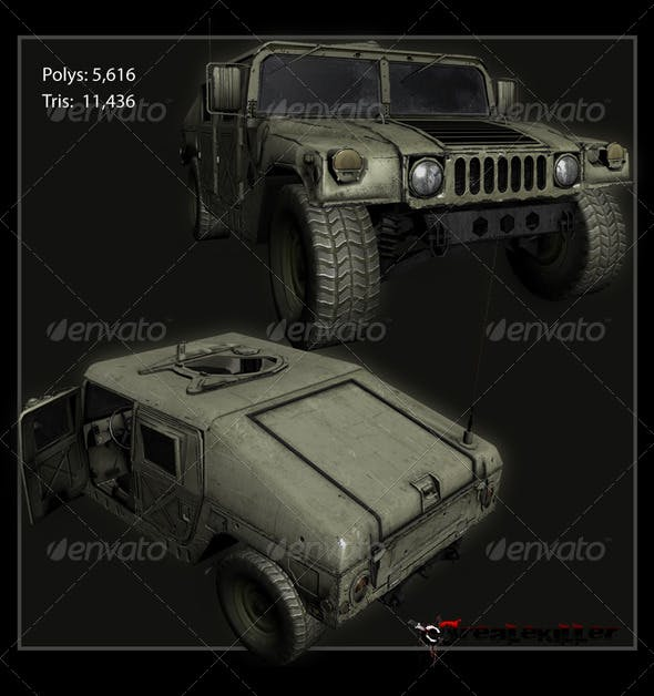 Hummer H1 - 3DOcean Item for Sale