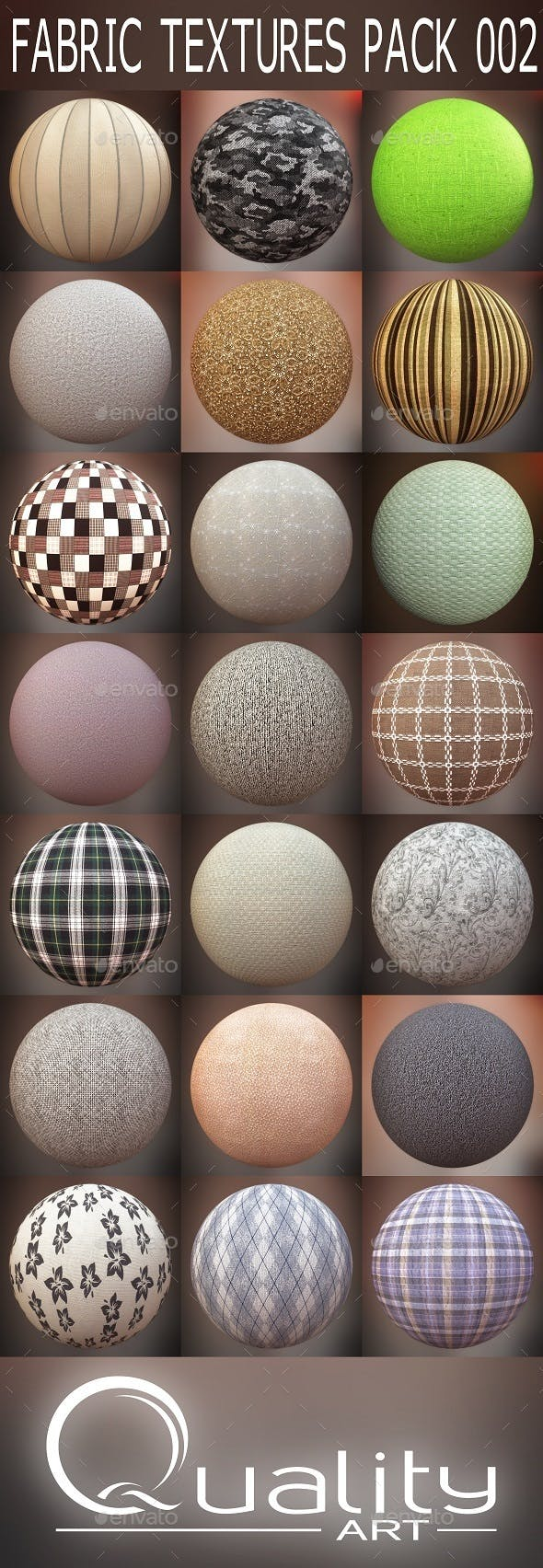 FABRIC TEXTURES PACK 002 - 3DOcean Item for Sale