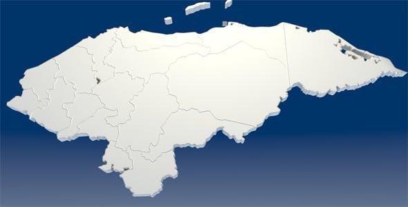 Honduras Map - 3DOcean Item for Sale
