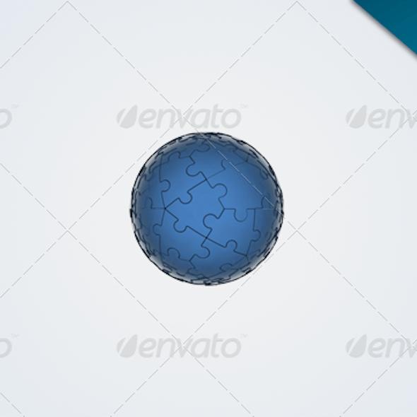 Cool 3D Jigsaw Ball