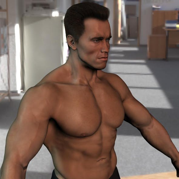 3d model Arnold Schwarzenegger body