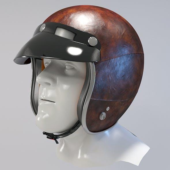 Retro Motorcycle Helmet  - 3DOcean Item for Sale