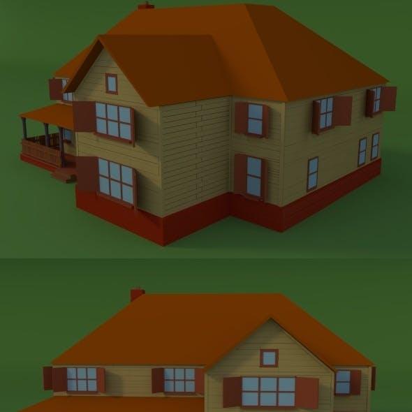 Low Poly Farm House