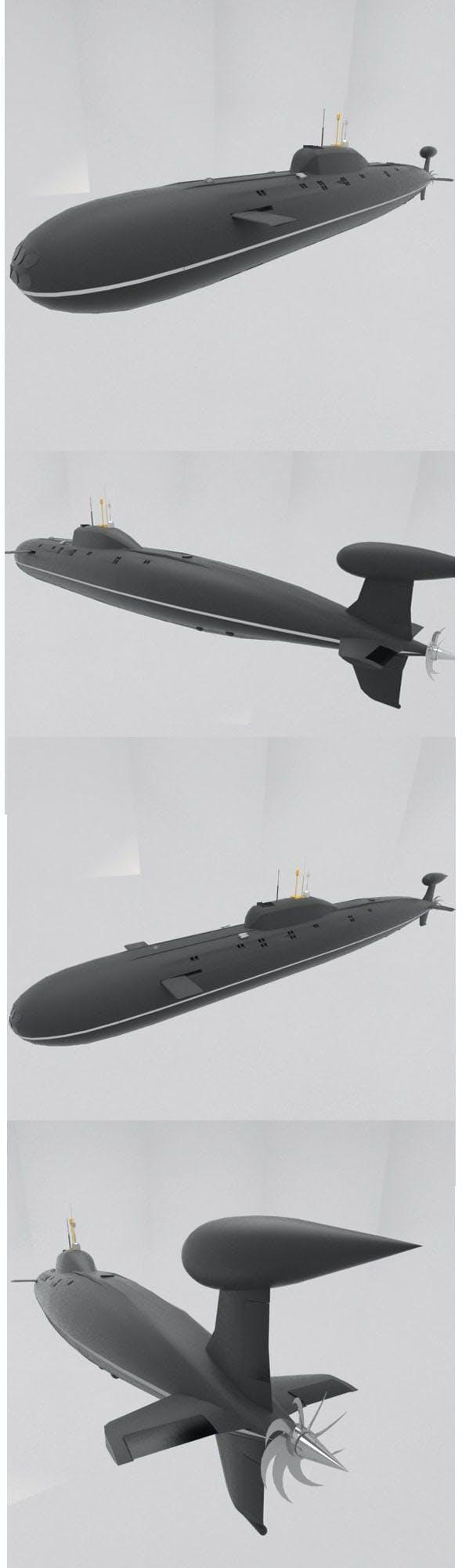 Akula Class Russian Submarine  - 3DOcean Item for Sale