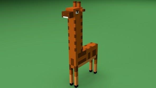 Low Poly Giraffe - 3DOcean Item for Sale