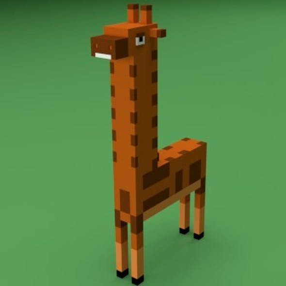 Low Poly Giraffe
