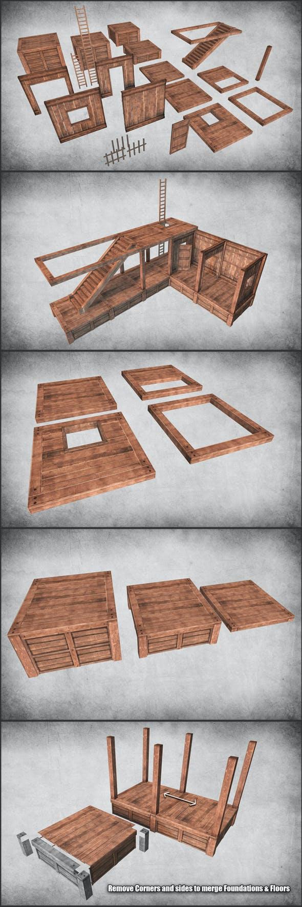 Survival Wood Crafting Kit - 3DOcean Item for Sale