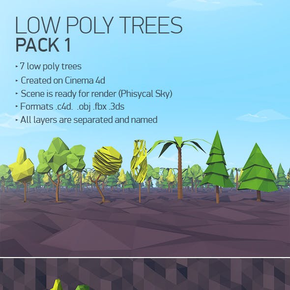 Low Poly Trees Pack 1