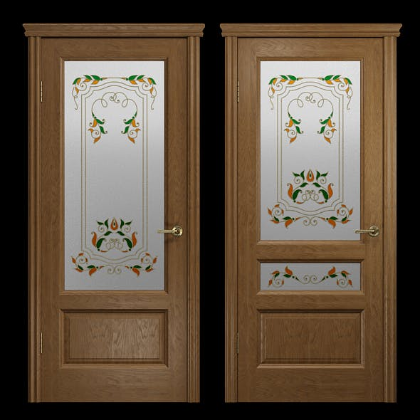Interior_doors_stained_glass_2 - 3DOcean Item for Sale
